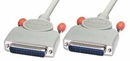 LINDY 31354 Straight Through RS-232 Serial Cable, All Pins Connected, 2m (25DM/25DM)