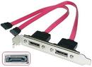 LINDY 33121 2 Port SATA Backplate Adapter, 0.25m