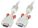 LINDY 36362 2m VGA Cable - Premium SVGA Monitor Extension Cable, Gray