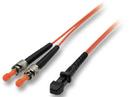 LINDY 46206 2m Fiber Optic Cable - MTRJ to ST, 62.5/125μm