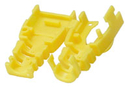 LINDY 60389 Post-assembly RJ-45 Male Strain Relief Boot, Yellow (10 per pack)