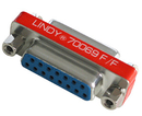 LINDY 70069 Mini Port Saver 15 Way D Female/Female