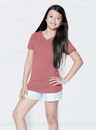 LAT 2607 Girls V-Neck Fine Jersey Tee