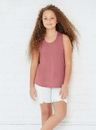 LAT 2621 Girls Relaxed Racerback Tank