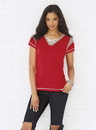 LAT 3533 Ladies Gameday Lace-Up Tee