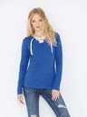 LAT 3538 Ladies Long Sleeve Lace-Up Tee