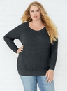 LAT 3862 Ladies Curvy Slouchy Pullover