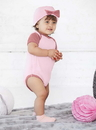 Rabbit Skins 4453 Infant Baby Rib Bow Cap