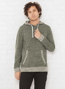 LAT 6779 Adult Melange French Terry Hoodie