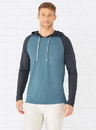 LAT 6917 Adult Long Sleeve Raglan Hood Tee