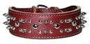 2-Ply Spiked & Studded Latigo Collar with Taper