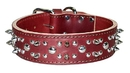 2-Ply Spiked & Studded Latigo Collar
