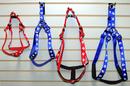 Kwik Step Padded Nylon Paw Print Harnesses(3/4