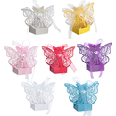 Aspire Pack of 50 Butterfly Laser Cut Favor Boxes Wedding Gift Boxes For Party Favors