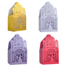 Aspire 50 Pcs / Pack Castle Wedding Favor Boxes Hollow Out Paper Candy Gift Boxes Party Favors