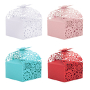Aspire 50PCS Floral Favor Boxes Laser Cut Candy box for Bridal Shower, Baby Birthday Party
