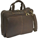 Le Donne Leather DS-4039  Distressed Leather  Laptop Brief