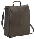 Le Donne Leather DS-903  Distressed Leather  17 Inch Laptop Messenger