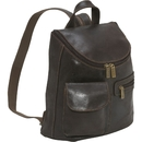 Le Donne Leather DS-9109  Distressed Leather  Womens Back Pack/Purse
