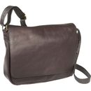 Le Donne Leather H-148R  Full Flap Over Shoulder Bag