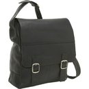Le Donne Leather LD-1007  Vertical Laptop Messenger Bag