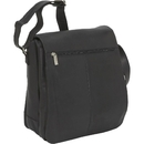 Le Donne Leather LD-4013  N/S Flap Over Laptop Messenger Bag
