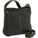 Le Donne Leather LD-4052  Zip Pocket Shoulder Bag