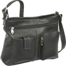 Le Donne Leather LD-4054  Two Pocket Crossbody