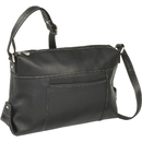 Le Donne Leather LD-7006  Top Zip Front Slip Shoulder Bag