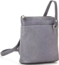 Le Donne Leather LD-808  L-Zip Crossbody Shoulder Bag