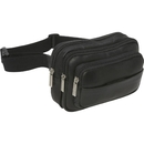 Le Donne Leather LD-9114  Four Compartment Waist Bag