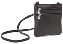 Le Donne Leather T-76-R Two Zip Mini Crossbody Bag