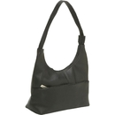 Le Donne Leather TR-1003  Top Zip Hobo Handbag