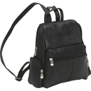 Le Donne Leather TR-252  Zip Around 4 Pocket Womens Backpack