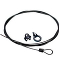 Bogen BG-CK10B Black 10 Foot Cable and Clamp
