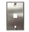 ICC ICC-IC107FFWSS Wall Plate, Phone, Flush, 1-Port, Ss