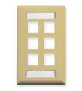 ICC ICC-IC107S06IV Faceplate, Id, 1-Gang, 6-Port, Ivory