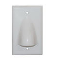 ICC ICC-IC640BSSWH Faceplate 1 Gang Bulk Nose White