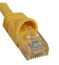 ICC ICC-ICPCSJ01YL PATCH CORD, CAT 5e, MOLDED BOOT, 1' YL