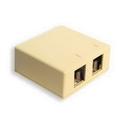 ICC ICC-SURFACE-2IV IC107SB2IV - SURFACE BOX 2PT Ivory