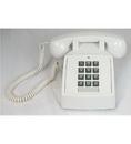 Cortelco ITT-2500-V-WH 250015-VBA-20M Desk w/ Volume WHITE