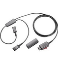 Plantronics PL-27019-03 Y Training Cord with Mute 27019-03