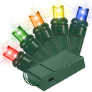 Winterland BAT-70MM4M-4G - 5MM Chonical Battery Operated LED 4 color multi 70 count lights setgauge, 4