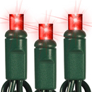 Winterland C-25MMRE-6G 25 Count Commercial Grade Conical 5MM Red LEDs On Green Wire