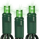 Winterland C-50MMGR-6G5ST Commercial 50 Green Lights, 5MM LED String Lights, 20 Guage Green Wire