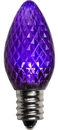 Winterland C7-DIM-RETRO-PU C7 Faceted Dimmable Purple LED Retrofit Lamp With 3 Internal LEDs And An E12 Base