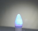 Winterland C7-RETRO-BL-F C7 Smooth Frosted Blue LED Retrofit Lamp With 3 Internal LEDs And An E12 Base