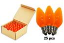 LEDgen C7-RETRO-OR-F C7 Smooth Frosted Orange LED Retrofit Lamp With 3 Internal LEDs And An E12 Base