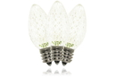 Winterland C7-RETRO-WW-TW C7 Faceted Warm White Twinkle LED Retrofit Lamp With 3 Internal LEDs And An E12 Base