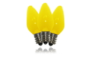 Winterland C7-RETRO-YE-F C7 Smooth Frosted Yellow LED Retrofit Lamp With 3 Internal LEDs And An E12 Base